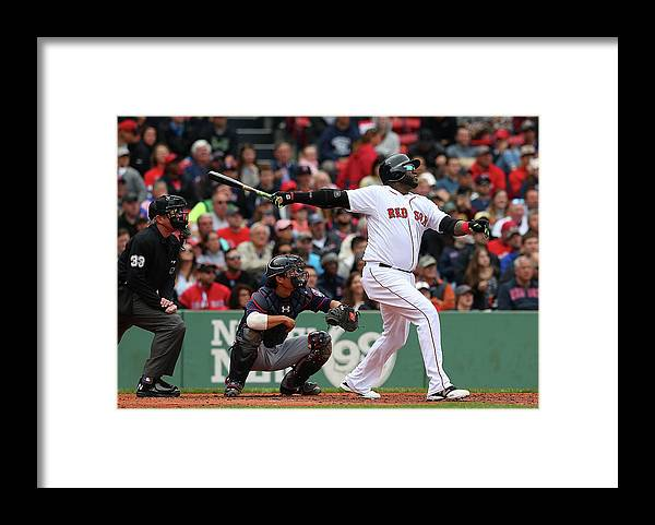 People Framed Print featuring the photograph David Ortiz by Jim Rogash
