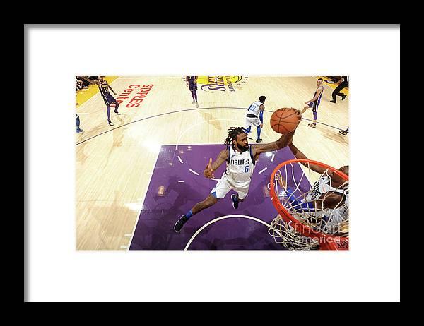 Nba Pro Basketball Framed Print featuring the photograph Deandre Jordan by Juan Ocampo