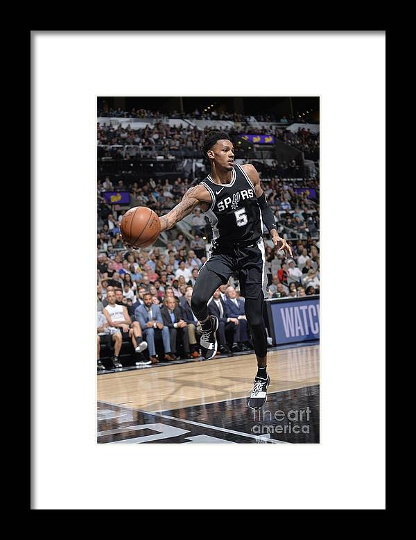 Sports Ball Framed Print featuring the photograph Dejounte Murray by Mark Sobhani