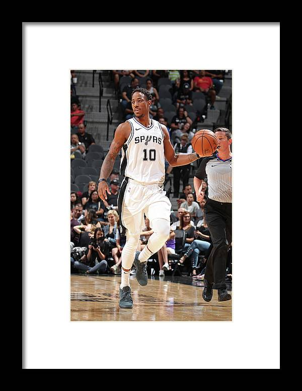 Nba Pro Basketball Framed Print featuring the photograph Demar Derozan by Nathaniel S. Butler