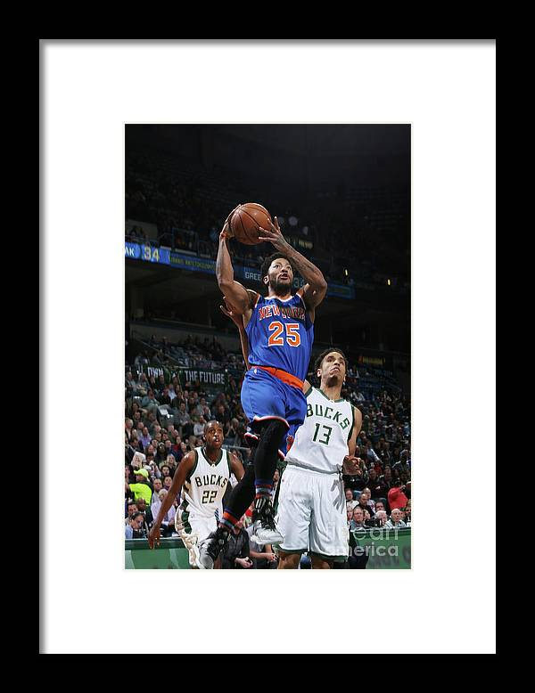 Nba Pro Basketball Framed Print featuring the photograph Derrick Rose by Gary Dineen