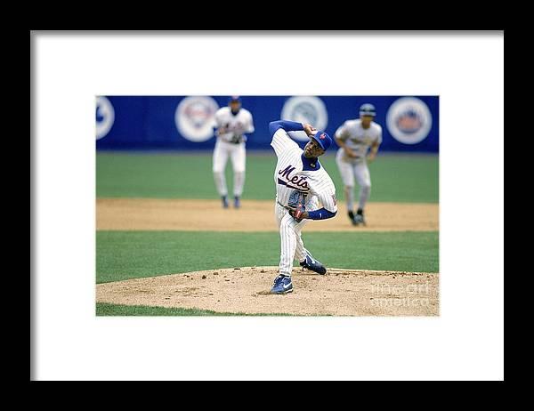 Dwight Gooden Framed Print featuring the photograph Dwight Gooden by Rich Pilling