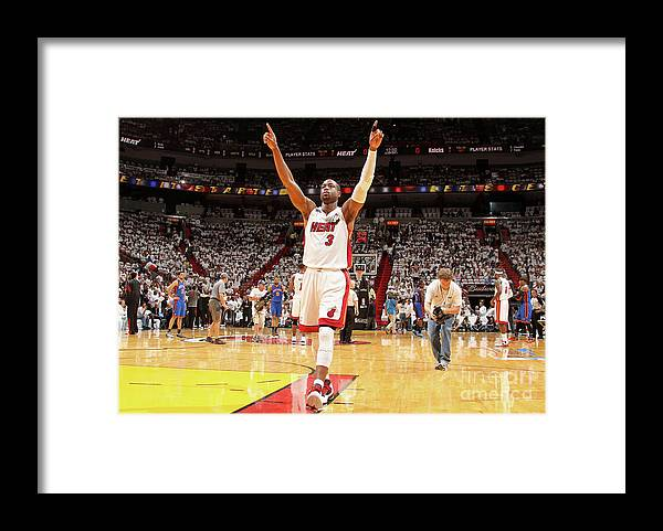 Playoffs Framed Print featuring the photograph Dwyane Wade by Nathaniel S. Butler