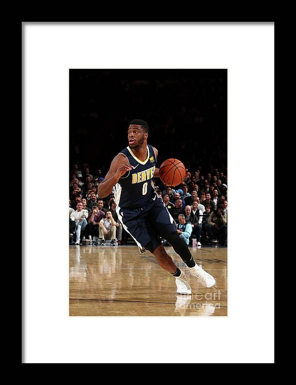 Nba Pro Basketball Framed Print featuring the photograph Emmanuel Mudiay by Nathaniel S. Butler