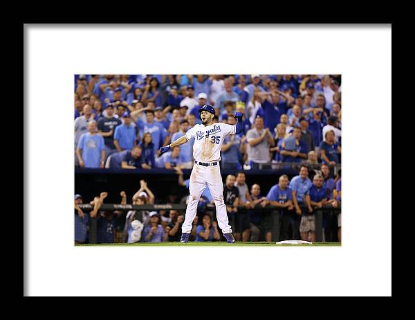 Playoffs Framed Print featuring the photograph Eric Hosmer by Ed Zurga