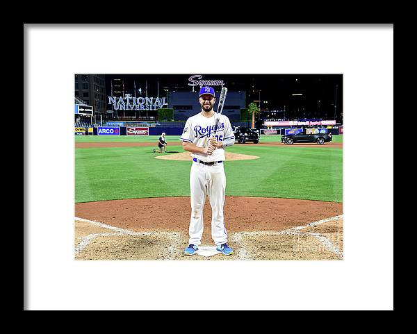 People Framed Print featuring the photograph Eric Hosmer by Harry How