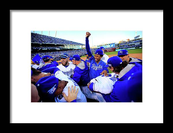 American League Baseball Framed Print featuring the photograph Eric Hosmer by Jamie Squire