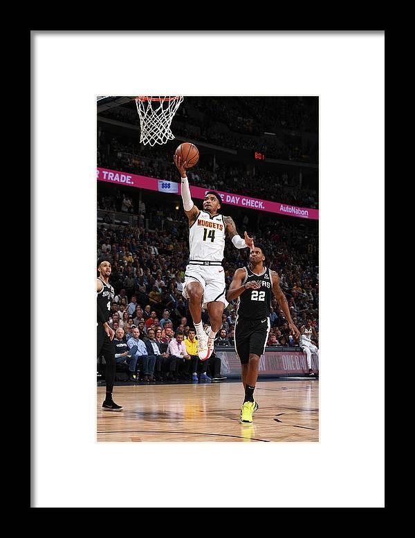 Playoffs Framed Print featuring the photograph Gary Harris by Garrett Ellwood