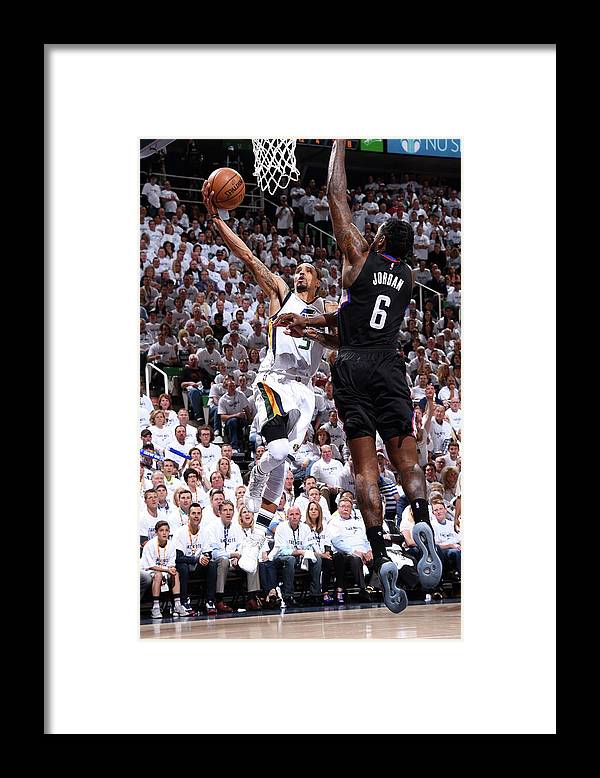 Playoffs Framed Print featuring the photograph George Hill by Andrew D. Bernstein