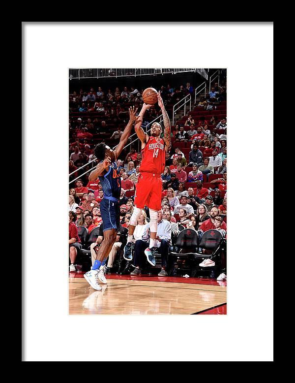 Nba Pro Basketball Framed Print featuring the photograph Gerald Green by Bill Baptist
