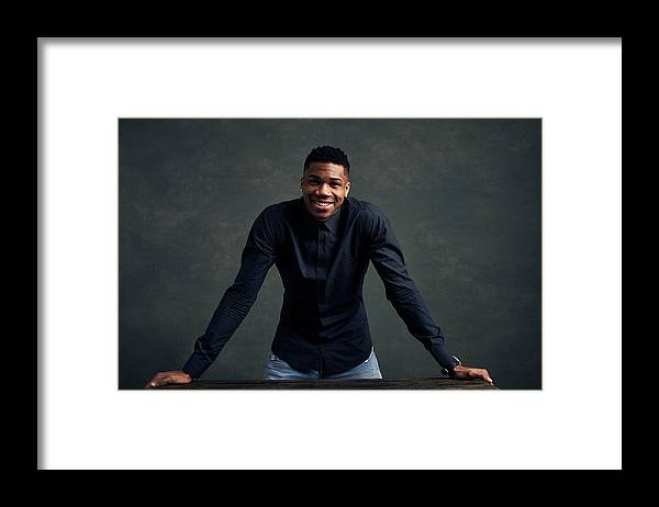 Event Framed Print featuring the photograph Giannis Antetokounmpo by Jennifer Pottheiser