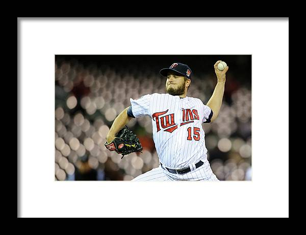 Game Two Framed Print featuring the photograph Glen Perkins by Hannah Foslien