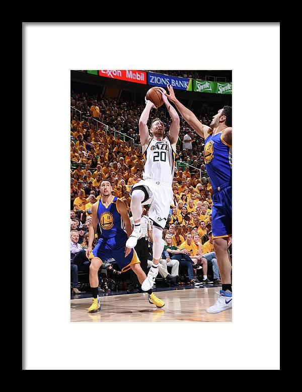 Playoffs Framed Print featuring the photograph Gordon Hayward by Andrew D. Bernstein
