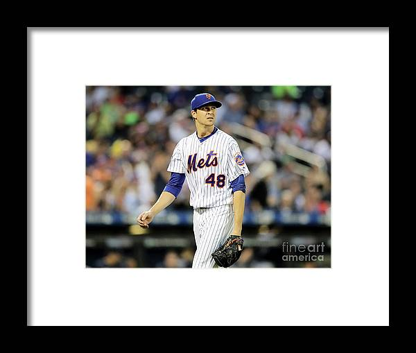 Jacob Degrom Framed Print featuring the photograph Jacob Degrom by Elsa