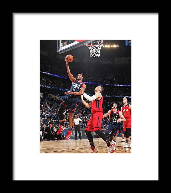 Event Framed Print featuring the photograph Jahlil Okafor by Nathaniel S. Butler