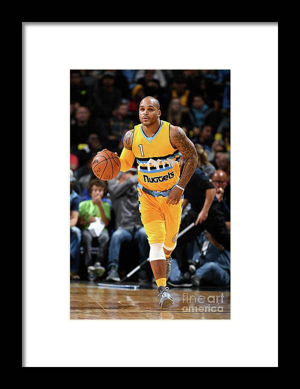 Nba Pro Basketball Framed Print featuring the photograph Jameer Nelson by Garrett Ellwood