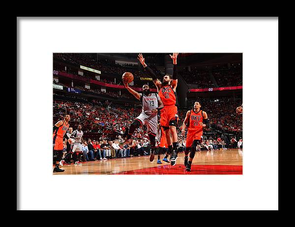 Nba Pro Basketball Framed Print featuring the photograph James Harden by Jesse D. Garrabrant