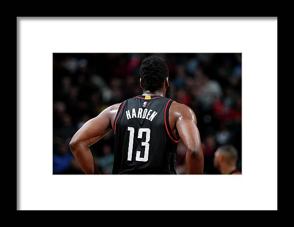 Nba Pro Basketball Framed Print featuring the photograph James Harden by Nathaniel S. Butler