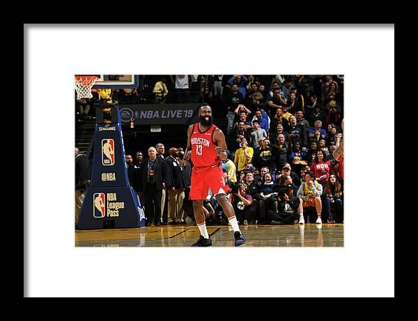 Nba Pro Basketball Framed Print featuring the photograph James Harden by Noah Graham