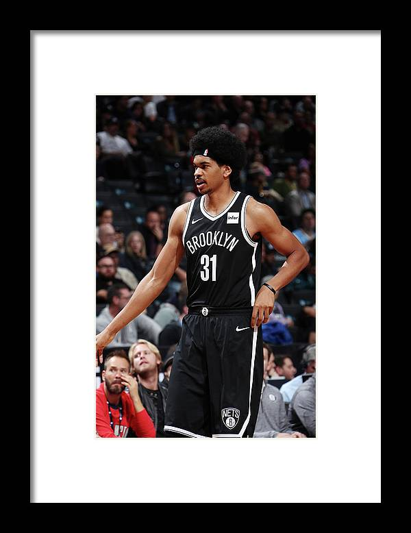 Nba Pro Basketball Framed Print featuring the photograph Jarrett Allen by Nathaniel S. Butler