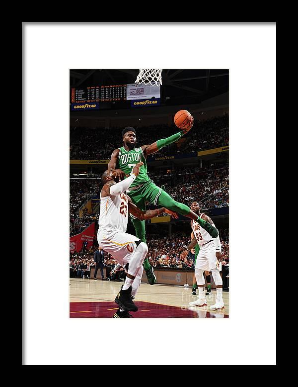 Nba Pro Basketball Framed Print featuring the photograph Jaylen Brown by Jesse D. Garrabrant