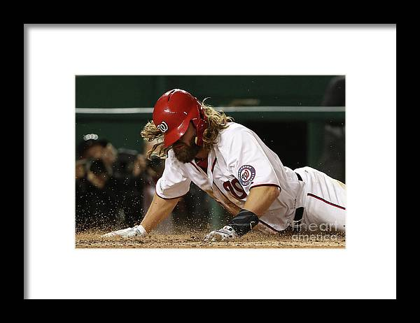 American League Baseball Framed Print featuring the photograph Jayson Werth by Patrick Smith