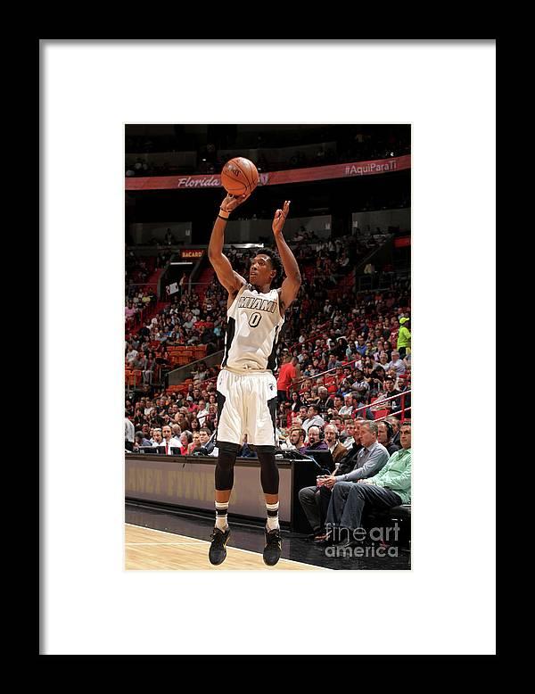 Nba Pro Basketball Framed Print featuring the photograph Josh Richardson by Oscar Baldizon
