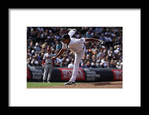Baseball Pitcher Framed Print featuring the photograph Juan Nicasio by Doug Pensinger