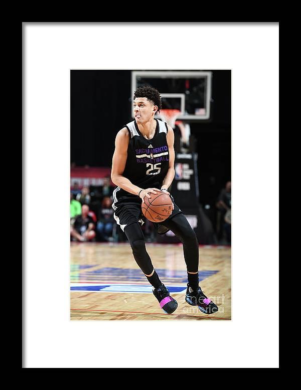 Nba Pro Basketball Framed Print featuring the photograph Justin Jackson by Garrett Ellwood
