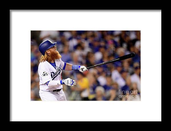 Three Quarter Length Framed Print featuring the photograph Justin Turner by Harry How