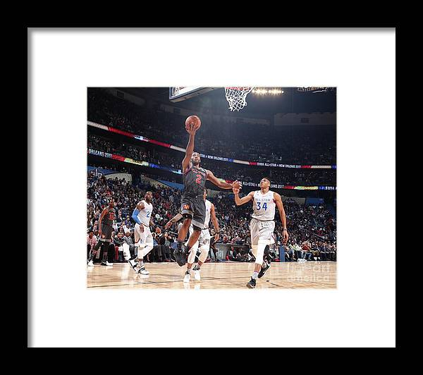Event Framed Print featuring the photograph Kawhi Leonard by Nathaniel S. Butler