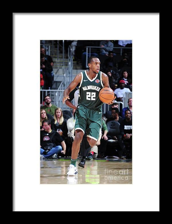 Sport Framed Print featuring the photograph Khris Middleton by Scott Cunningham