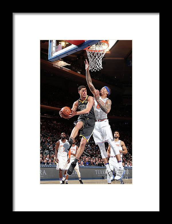 Nba Pro Basketball Framed Print featuring the photograph Klay Thompson by Nathaniel S. Butler