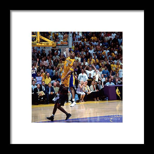 Playoffs Framed Print featuring the photograph Kobe Bryant by Nathaniel S. Butler