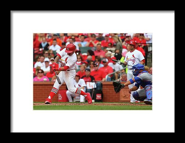 St. Louis Cardinals Framed Print featuring the photograph Kolten Wong by Dilip Vishwanat
