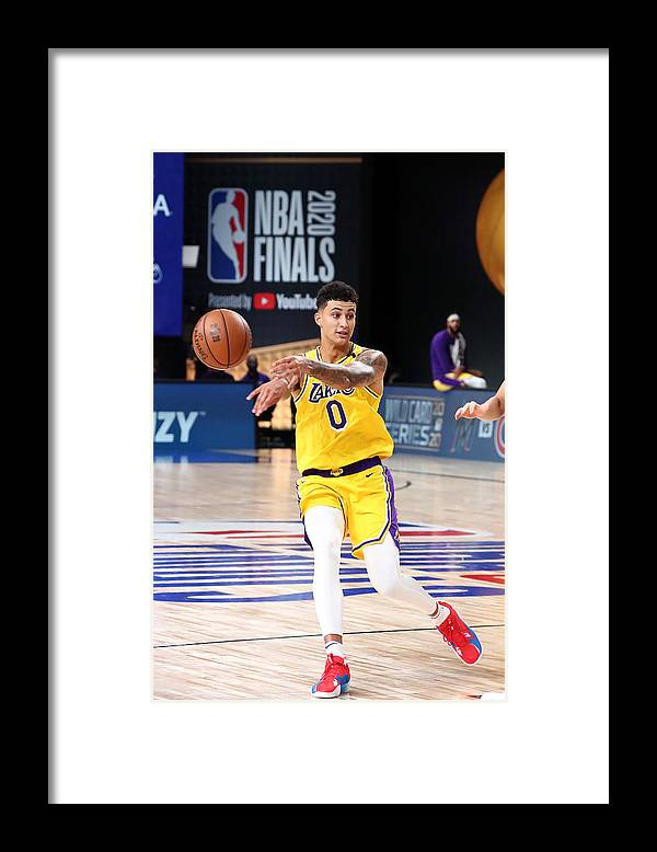 Playoffs Framed Print featuring the photograph Kyle Kuzma by Nathaniel S. Butler