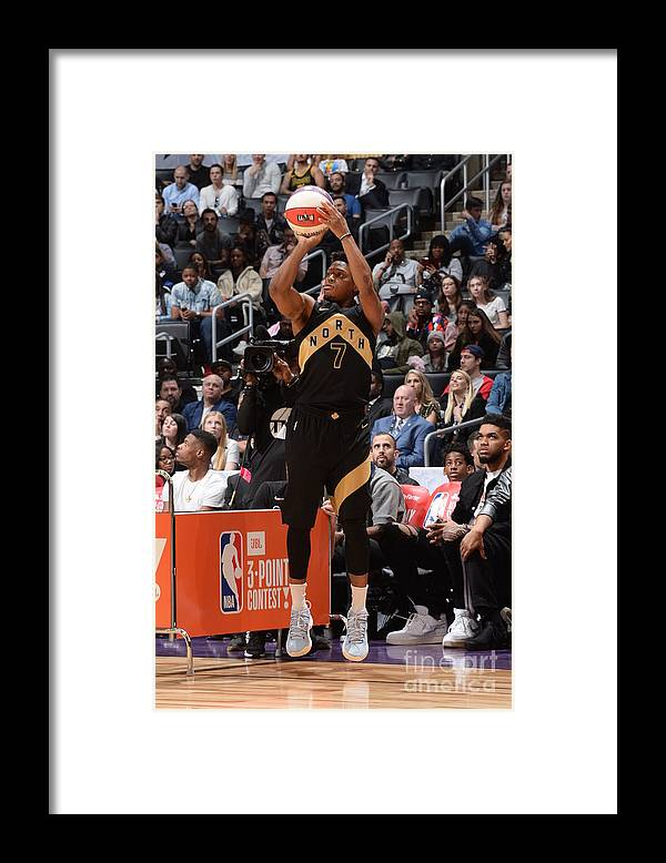 Event Framed Print featuring the photograph Kyle Lowry by Andrew D. Bernstein