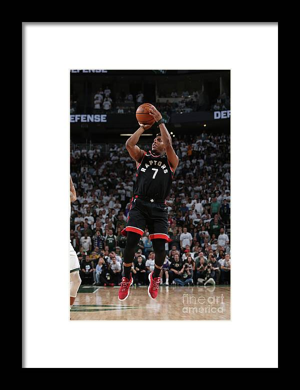 Playoffs Framed Print featuring the photograph Kyle Lowry by Gary Dineen