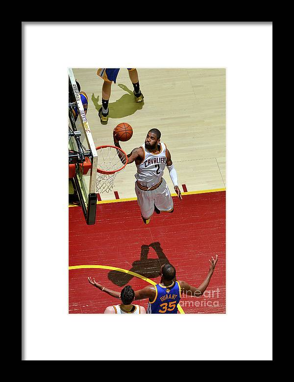 Playoffs Framed Print featuring the photograph Kyrie Irving by Jesse D. Garrabrant