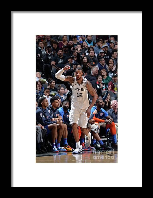 Nba Pro Basketball Framed Print featuring the photograph Lamarcus Aldridge by Mark Sobhani