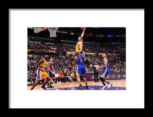 Nba Pro Basketball Framed Print featuring the photograph Larry Nance by Andrew D. Bernstein