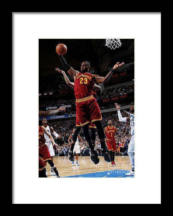 Nba Pro Basketball Framed Print featuring the photograph Lebron James by Glenn James