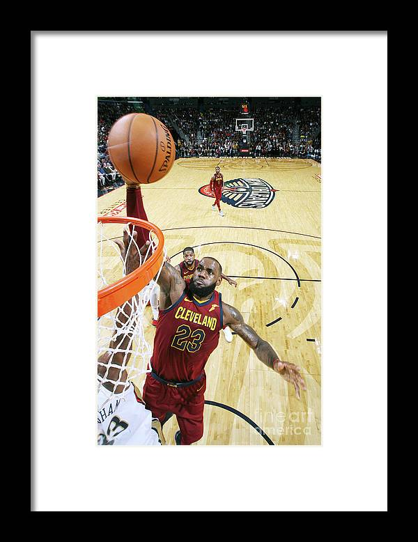 Smoothie King Center Framed Print featuring the photograph Lebron James by Layne Murdoch