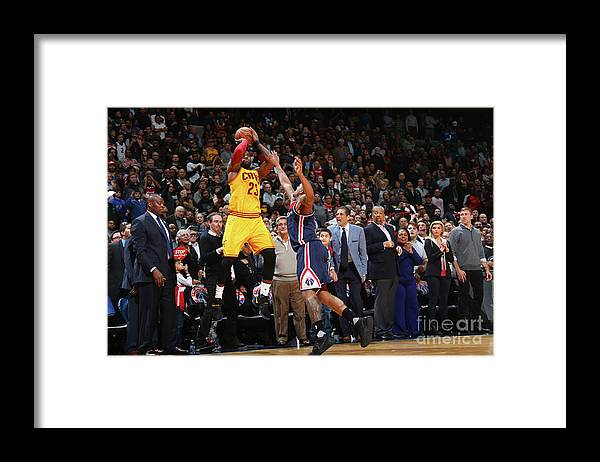 Nba Pro Basketball Framed Print featuring the photograph Lebron James by Ned Dishman