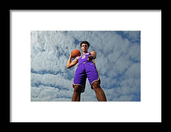 Nba Pro Basketball Framed Print featuring the photograph Lonzo Ball by Jesse D. Garrabrant