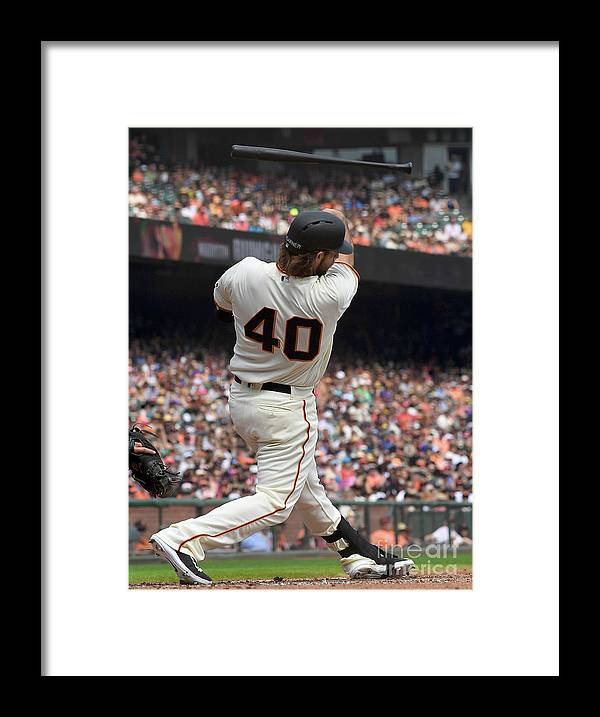 San Francisco Framed Print featuring the photograph Madison Bumgarner by Thearon W. Henderson