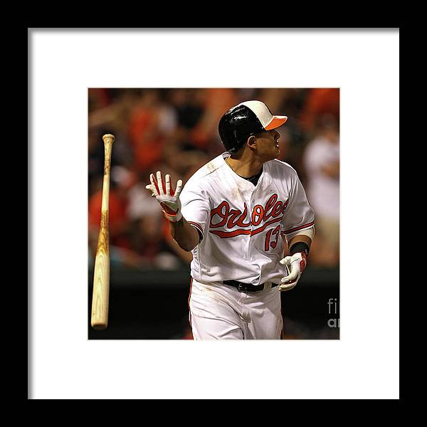 Three Quarter Length Framed Print featuring the photograph Manny Machado by Patrick Smith
