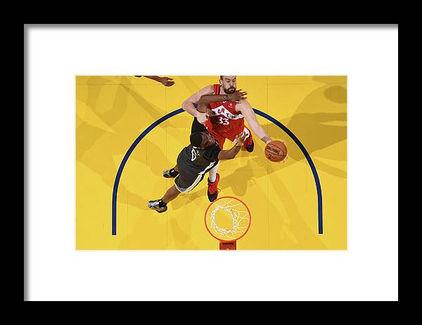 Playoffs Framed Print featuring the photograph Marc Gasol by Andrew D. Bernstein