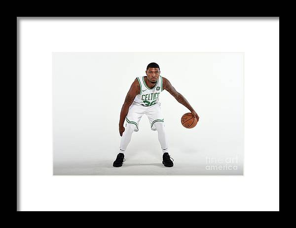Media Day Framed Print featuring the photograph Marcus Smart by Brian Babineau