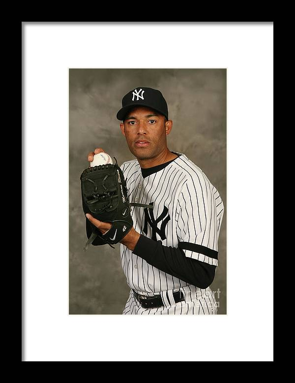 Media Day Framed Print featuring the photograph Mariano Rivera by Nick Laham